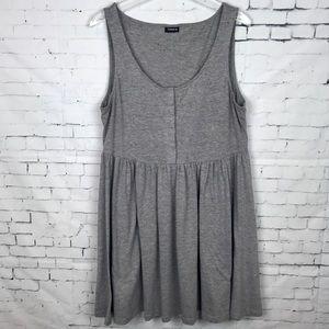 Torrid Jersey Gray Skater Dress Sleeveless